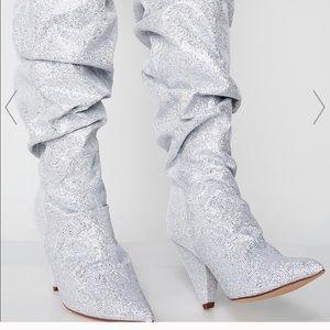 Sparkly Dolls kill iridescent glitter boots 7